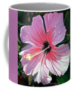 Pink Hibiscus With Raindrops Coffee Mug