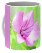 Pink Hollyhock Flower Coffee Mug