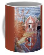 Pink House In Autumn Coffee Mug