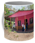 Pink House In Costa Rica Coffee Mug