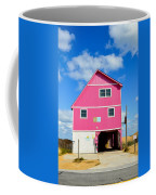 Pink House On The Beach 3 Coffee Mug