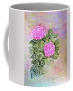 Pink Hydrangeas And Hostas Coffee Mug
