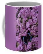Pink Kalanchoe And Black Butterfly Coffee Mug