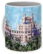 Pink Lady Don Cesar Watercolor Coffee Mug