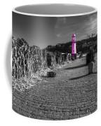 Pink Lighthouse Of St Ives Coffee Mug