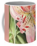 Pink Lily Close Up Coffee Mug