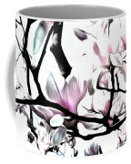 Pink Magnolia - In Black And White  Coffee Mug