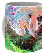 Pink Molecules Rain Coffee Mug