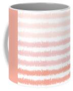 Pink Ombre Ikat Stripe- Art By Linda Woods Coffee Mug by Linda Woods
