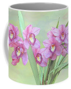 Pink Orchid Photo Sketch Coffee Mug