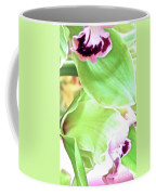 Pink Orchid With Green 1 Coffee Mug