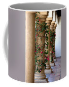 Pink Peacock Colored Bougainvillea Blossoms Climbing Pillars Photograph By Colleen Coffee Mug