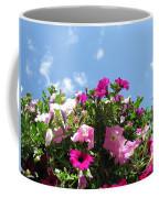 Pink Petunias In The Sky Coffee Mug