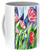 Pink Poppies Batik Style Coffee Mug