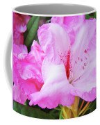 Pink Rhododendron Art Print Floral Canvas Rhodies Baslee Troutman Coffee Mug