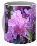 Light Purple Rhododendron With Leaves Coffee Mug