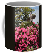 Pink Rhododendrons With Totem Pole Coffee Mug