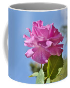 Pink Rose Against Blue Sky I Coffee Mug