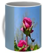 Pink Rose Against Blue Sky Iv Coffee Mug