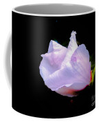 Pink Rose Of Sharon Glowing On A Black Background Coffee Mug
