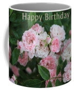 Pink Roses Birthday Card Coffee Mug