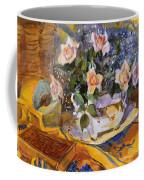 Pink Roses In Gaye's Dish Coffee Mug