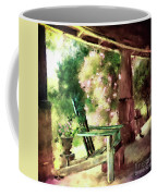 Pink Roses On The Porch Coffee Mug