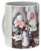 Pink Roses Coffee Mug by Samuel John Peploe