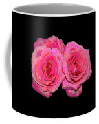 Pink Roses With Enameled Effects Coffee Mug