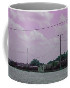Pink Sky And Trains Coffee Mug