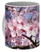 Pink Spring Blossoms Art Print Blue Sky Landscape Baslee Troutman Coffee Mug