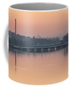 Pink Sunrise Over The Rock River Coffee Mug