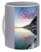 Pink Sunset Over A Lagoon In Norway Coffee Mug