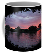 Pink Sunset Panorama With Black Framing Coffee Mug