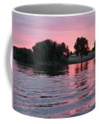 Pink Sunset With Soft Waves Coffee Mug