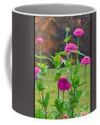Pink Tall Zinnia's Coffee Mug