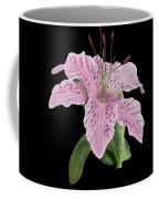Pink Tiger Lily Blossom Coffee Mug