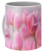 Pink Tulip Crowd Coffee Mug