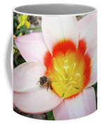 Pink Tulip Flower Orange Art Prints Honey Bee Baslee Troutman Coffee Mug