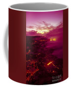 Pink Volcano Sunrise Coffee Mug