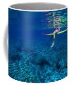 Pink & Yellow Surfboard Coffee Mug