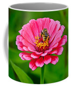 Pink Zinnia Bee Coffee Mug