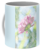 Pink Zinnia On Bokeh Background Coffee Mug