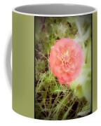 Pinkish Orange Zinnia On Green Background Coffee Mug