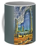 Pinnacle Building Sunset Nashville Shadows Nashville Tennessee Art Coffee Mug