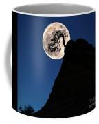 Pinon Pine And Moon Zion National Park  Coffee Mug