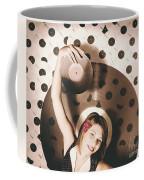 Pinup Dj Rocking Around The Clock  Coffee Mug