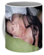 Pinup Model Alicia Maria Rose In Black Lace Coffee Mug