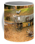 Pioneer Wagon And Broken Wheel Coffee Mug