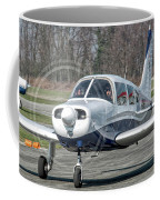 Piper Pa28 I-cnpg Taxiing To The Runway Coffee Mug